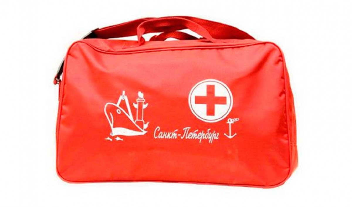 Ship's first aid kit in a bag