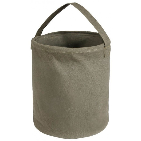 Tarpaulin bucket with lining