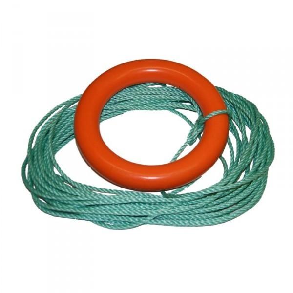 Кольцо плавучее спасательное с линем