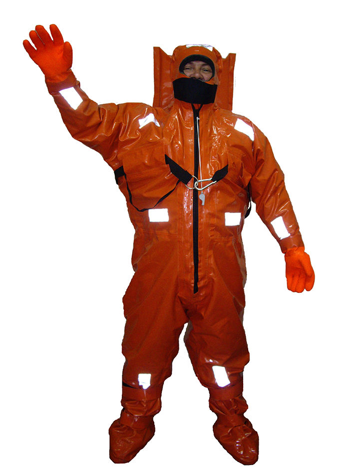 Rescue immersion suit with hermetic zipper GTKS6-GM
