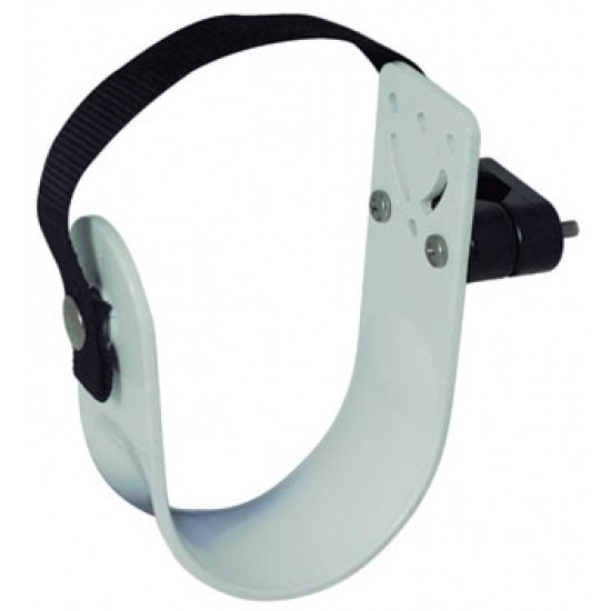 Lifebuoy attachment to railing and wall