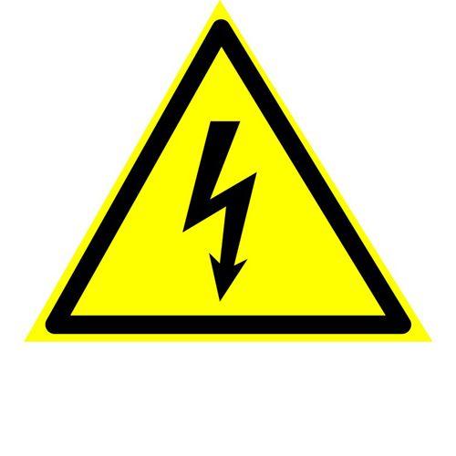 Danger of electric shock 150x150mm