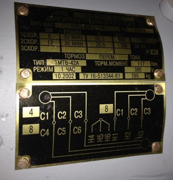 Electric motor MAP 422-4 / 8A, 380V, TMTV-42, flange