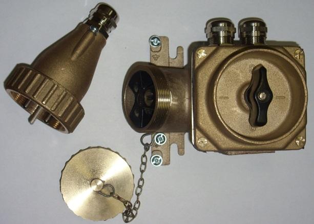 Розетка штепсельная морская с выключателем РШМВ