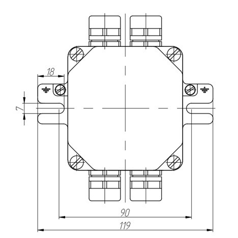 Marine electrical box KEM
