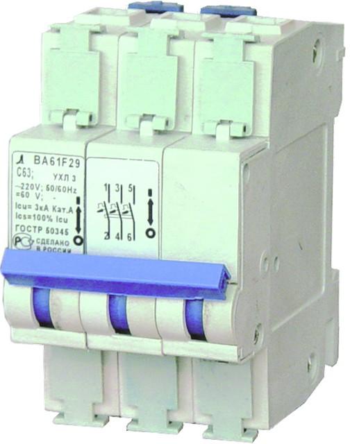 Автоматич. выключатель ВА61F29-3C 6,3А