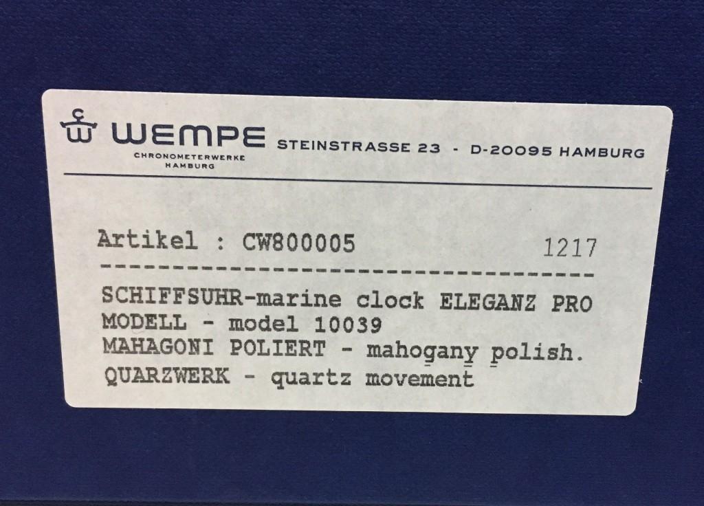 Хронометр морской кварцевый 10039