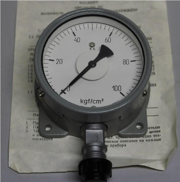 Манометр МТПСД-100-ОМ2 (0-100 кг/см2)
