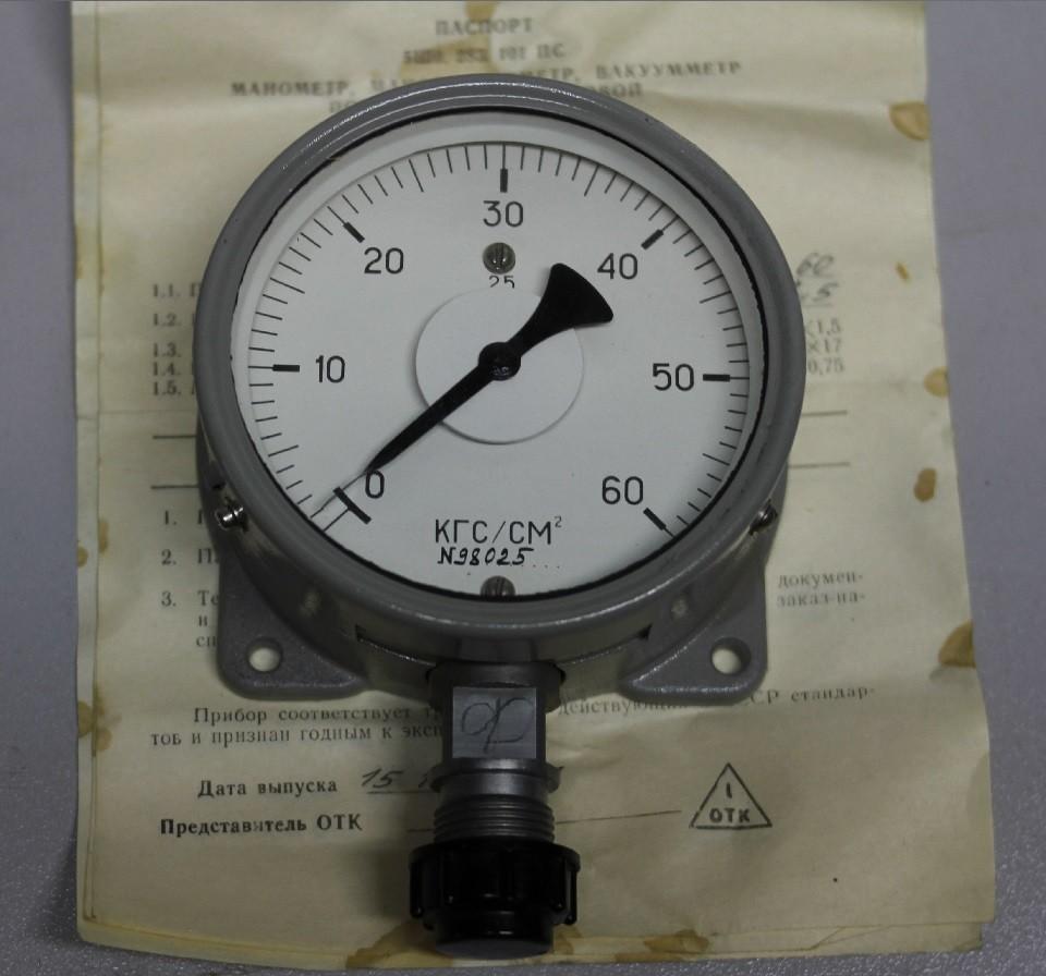 Манометр МТПСД-100-ОМ2 (0-60 кг/см2)
