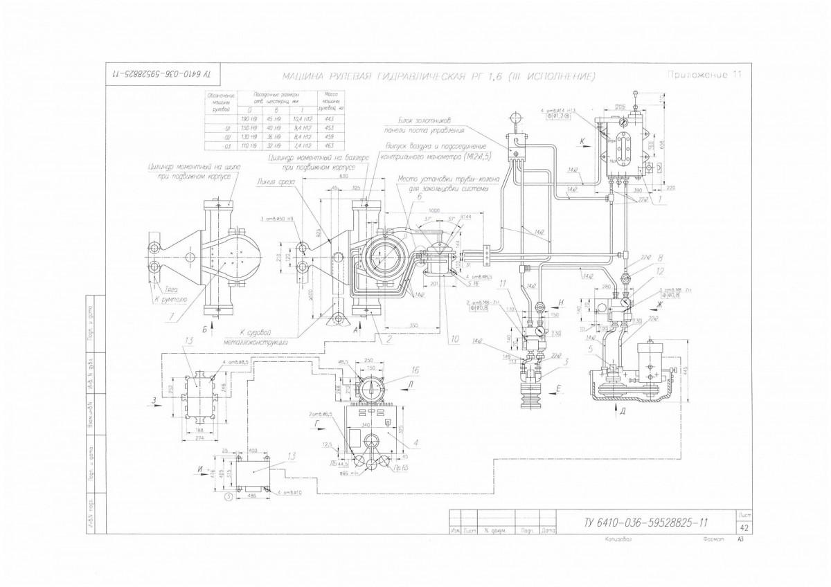 Машина рулевая гидравлическая РГ-1,6-III