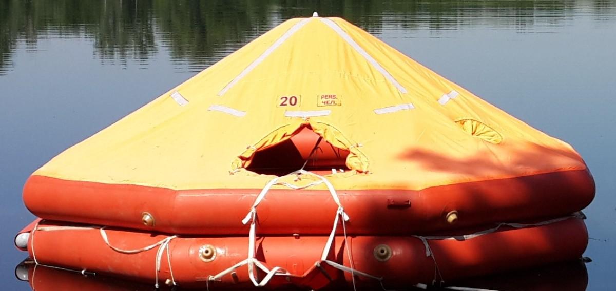 Плот спасательный речной ПСР-20У