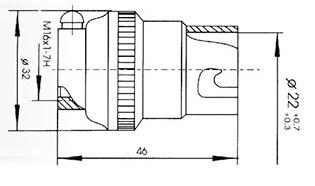 Патрон байонетный В22d-220МН-ОМ2 (латунь)