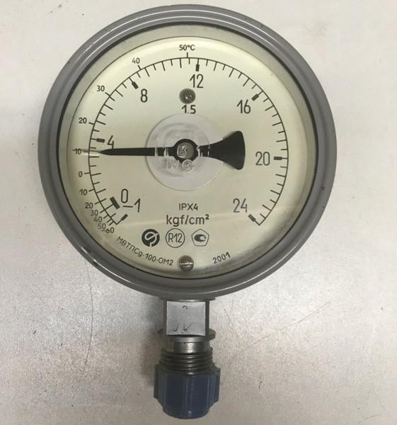 Мановакуумметр МВТПСд-100-ОМ2 (-1-0+24 кгс/см2)