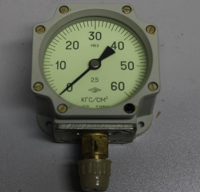 Манометр МКУ 0-60 (кг/см2)